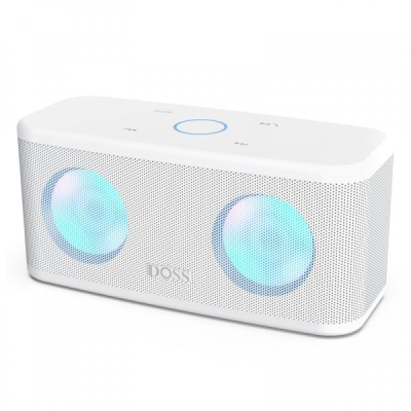 DOSS SoundBox Plus TWS Bluetooth Speaker Wireless Stereo 20H Playtime Deep Bass