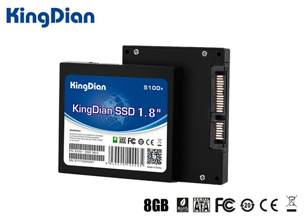 KingDian S100+ SSD Solid State Drive 1.8 inch SATA2 Hard Disk for Laptop