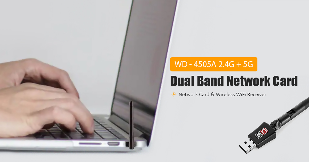WD - 4505A 2.4G + 5G Dual Band Network Card Wireless WiFi Receiver 600M